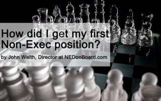 How did I get my first Non-Exec position by John Welth