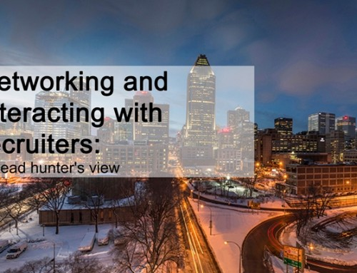 Networking and interacting with recruiters: A head hunter's view