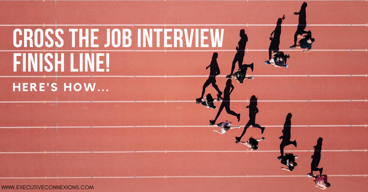 Cross the job interview finish line