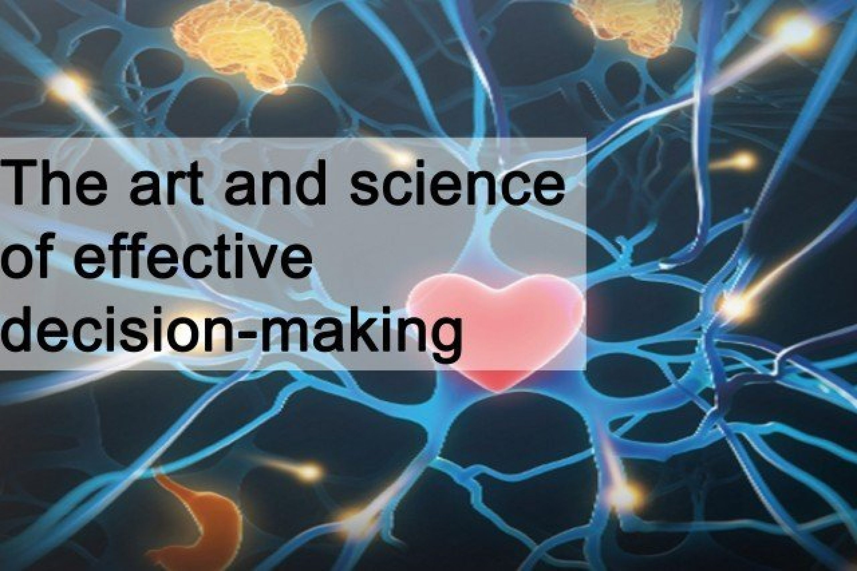 The art and science of effective decision-making